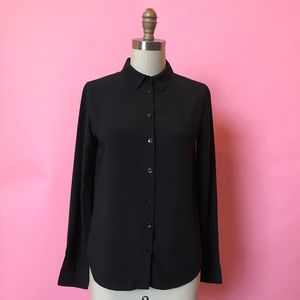 Uniqlo Black Button down top